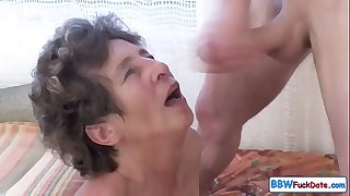 Old Fat Granny Screaming From Anal