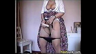 Grandma Masturbating With A Vibrator