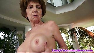 Grandma pussy banged doggystyle