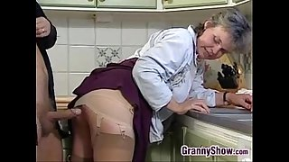 Grandma Sucking And Fucking In The Kitchen