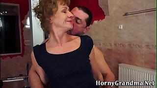 Ass plowed grandma jizzed