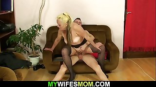 Hot taboo sex with mother inlaw