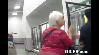 Grandmas Big Ass Walking Around At A Store