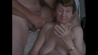Grandma sucks dick