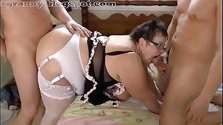 Big ass granny threesome