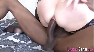 Grannies ass rides cock