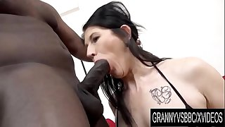 Granny Vs BBC - Mature Slut Niky Has Her Ass Pumped Full of Black Seed