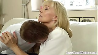 Cougar granny bent over and doggystyled