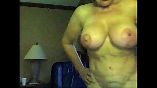 Granny Big boobs on cam