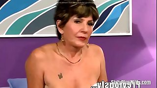 Bea Cummins granny threesome with younger guys