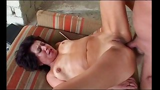 Granny gets anal from grandpa