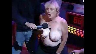 Granny have orgasm in porno show. Amateur older