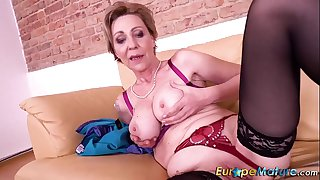 EuropeMaturE Solo Masturbation Milena Fingering