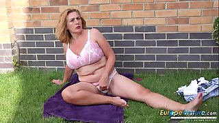 EuropeMaturE Camilla Creampie Solo Performance