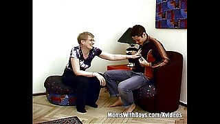Blonde Mature In Glasses Fucks A Young Teen Boy