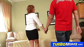 Old with young sex with horny redhead cougar Sarah