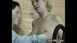 Grandma Being Pleased By A Horny Boy