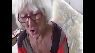 My old granny lover suck dick and balls and make cum with Hand