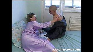 bald young guy fucks his granny