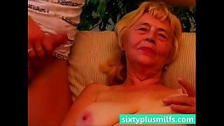 Granny enjoys her young fuck friend