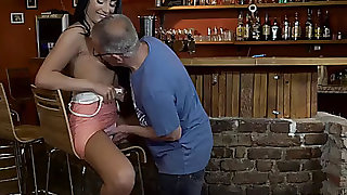 Daddy4k.fearsome old daddy seduces glamorous brunette hair during the time that son left
