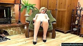 grandma filmed fingering and sucking toy