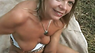 Outdoor hardcore fuck with a slutty mature woman named Samantha