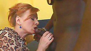 Redhead Hooker Takes An Ebony Creampie