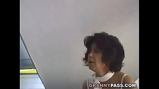 Hairy Grandma Takes Young Dick