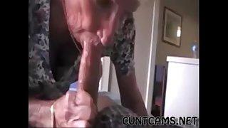 Grandmas Roommate Getting Fed Cum - More at cuntcams.net