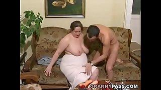 German BBW Granny Loves Young Dick