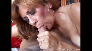 Super hot old spunker is such a hot fuck and loves to eat cum