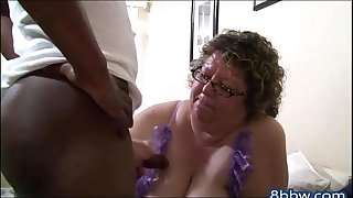 Chubby Grandma Knows how to Suck Black Cock - 8bbw.com