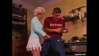 Hot grandma Effie loves anal