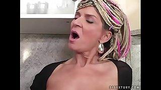 50 yo slut Janice vs young cock