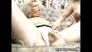 Grandmas devour each other's pussy
