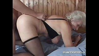 Grandma doggied like a slut