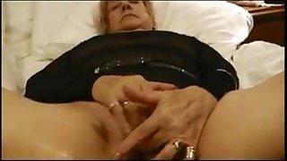 Granny Masturbating And Orgasming Close Up