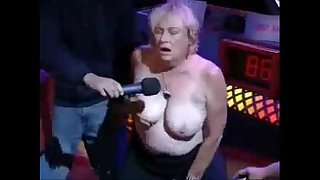 Granny have orgasm in porno show. Amateur older