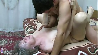 OldNanny Granny sucking dick and fucking hard