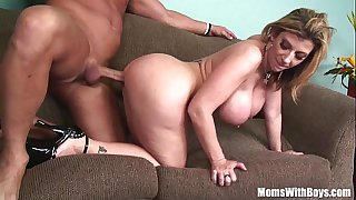 MILF Blonde Sarah Jay Soft Massive Tits Fucked