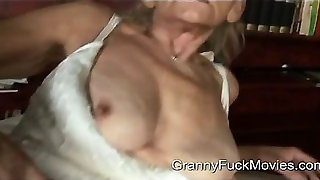 filthy granny gets a fresh guy to fuck
