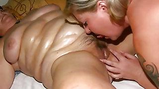 Fat Granny Oiled & Massaged