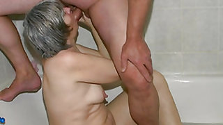 OldNanny Horny spectacled granny and Young guy fuck
